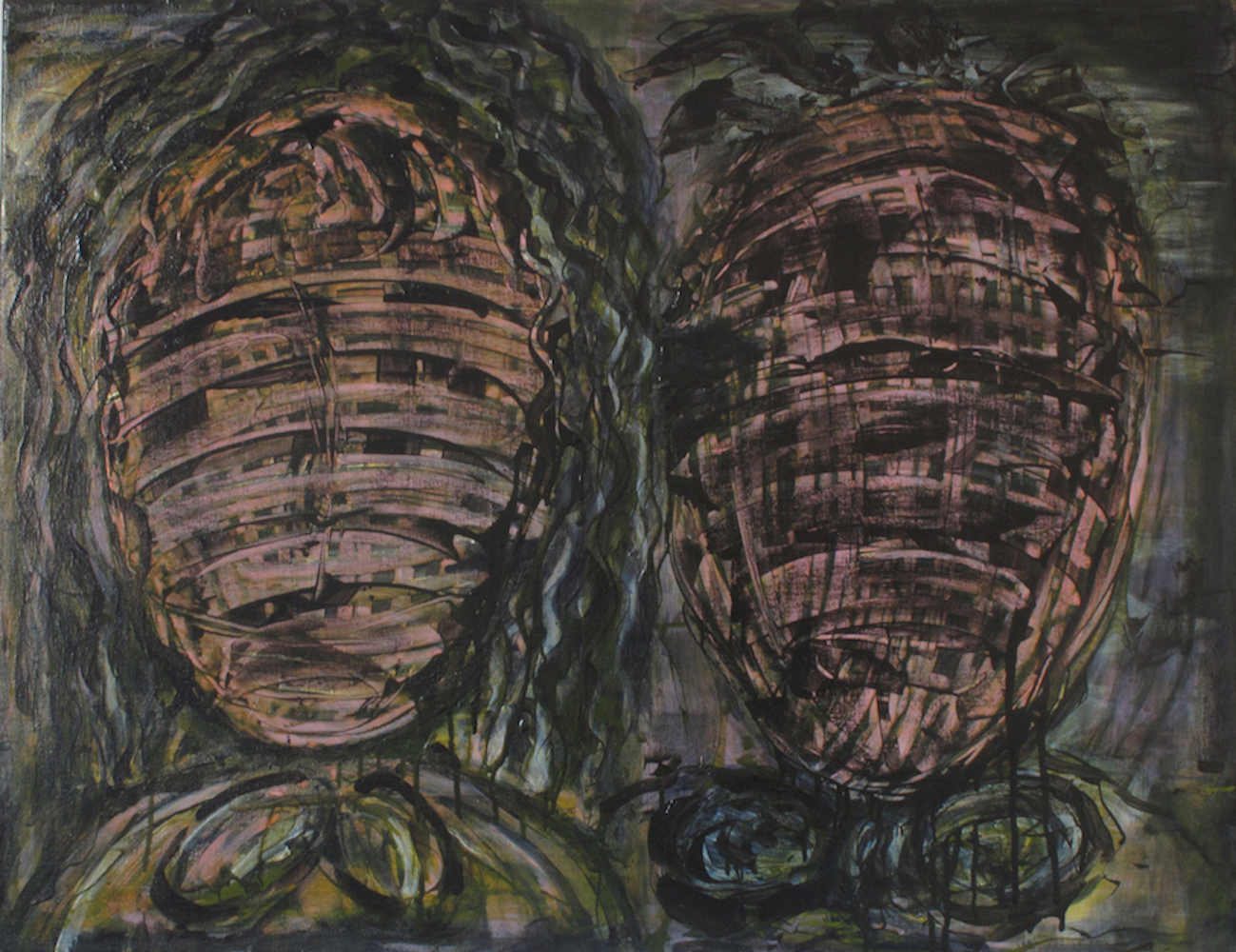 Him & Her_acrylic on canvas_71x91x3.5cm